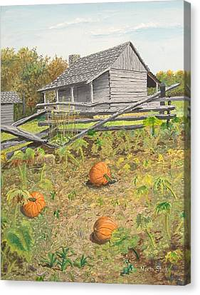 What's Left Of The Old Homestead Canvas Print by Norm Starks
