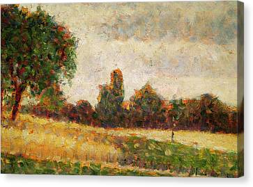 Wheat Field Canvas Print by Georges Pierre Seurat