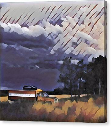 Wheat Wagon Canvas Print