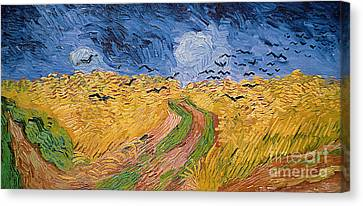 Wheatfield With Crows Canvas Print