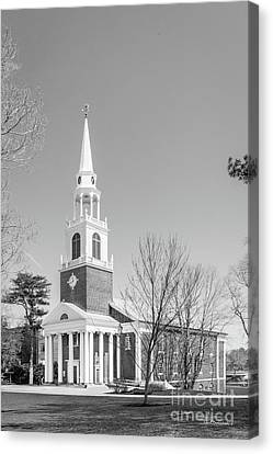 Wheaton College Cole Memorial Chapel Canvas Print by University Icons