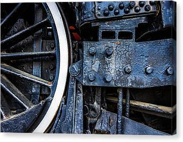 Wheel In Black II Canvas Print by Jae Mishra