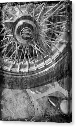Canvas Print featuring the photograph Wheel Of An Old Car. by Andrey  Godyaykin