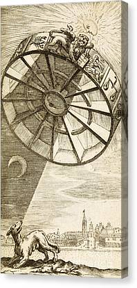 Wheel Of Fortune Descending, 1657 Canvas Print