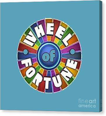 Wheel Of Fortune T-shirt Canvas Print