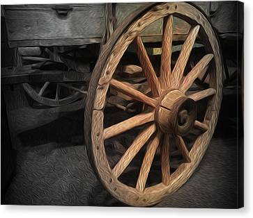 Horse And Buggy Canvas Print - Wheel Of Yesteryear by Zin Shades