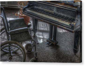 Wheel Piano Canvas Print