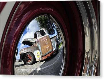 Wheel Reflections Canvas Print by David Lee Thompson