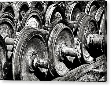 Wheels And Wheels And Wheels Canvas Print