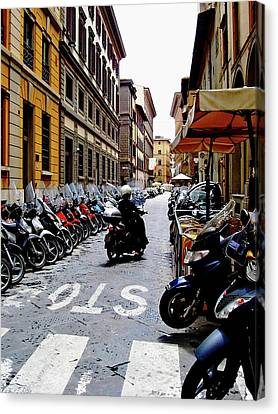 Transportion Canvas Print - Wheels Of Florence Italy by Debbie Oppermann