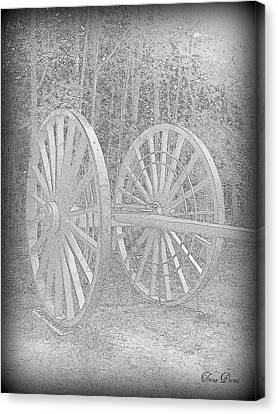 Wheels Canvas Print by Trina Prenzi