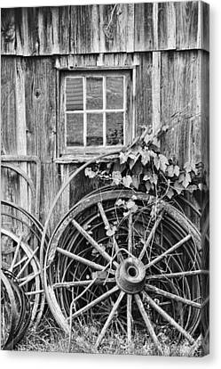 Wagon Wheels Canvas Print - Wheels Wheels And More Wheels by Crystal Nederman