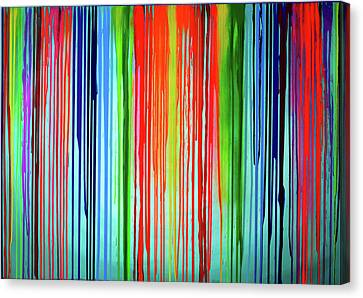 When A Rainbow Cry - Rainbow Tears Canvas Print by Tiberiu Soos