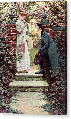 When All The World Seemed Young Canvas Print by Howard Pyle