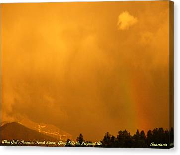 Canvas Print featuring the photograph When God's Promises Touch Down... by Anastasia Savage Ealy