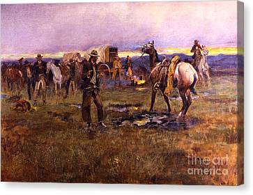 When Horses Talk Slim Chance For Truce Canvas Print by Roberto Prusso