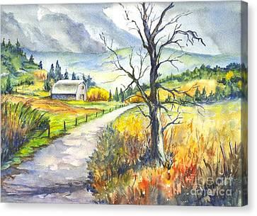 When I Was Young Canvas Print by Carol Wisniewski