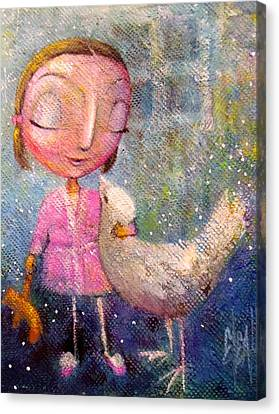 Canvas Print featuring the painting When I'm With You by Eleatta Diver