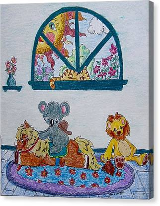 Koala Canvas Print - When Imagination Was Still Fun by Megan Walsh