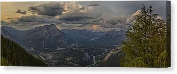 When In Banff Canada Canvas Print by Angela A Stanton