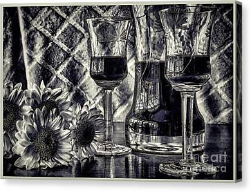 When It's Time For Wine Canvas Print by Pamela Blizzard