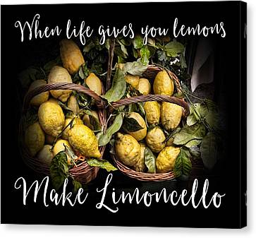 Italian Kitchen Canvas Print - When Life Gives You Lemons, Make Limoncello by Antique Images