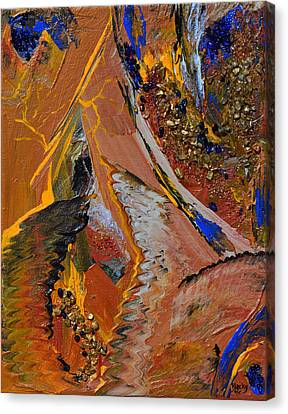 When Lightning Strikes Canvas Print by Donna Blackhall