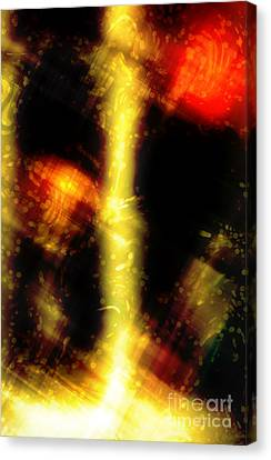 When Lines Are Drawn Canvas Print by John Rizzuto
