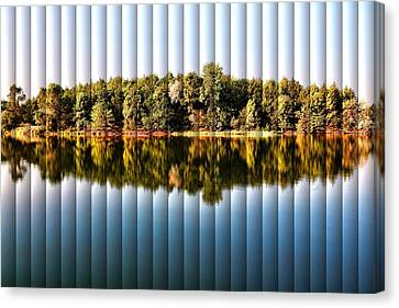 When Nature Reflects - The Slat Collection Canvas Print