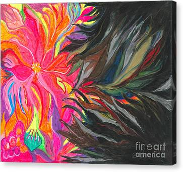 Canvas Print featuring the painting When Pain Comes by Ania M Milo