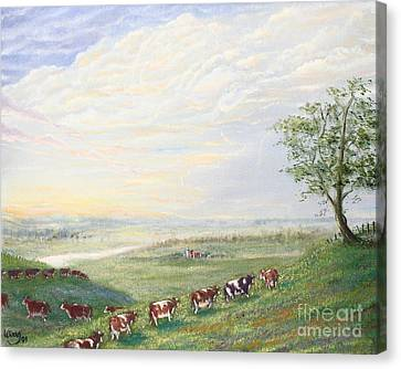 When The Cows Come Home 1991 Canvas Print by Wingsdomain Art and Photography