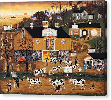When The Cows Come Home Canvas Print by Joseph Holodook