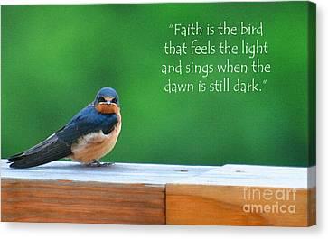 When The Dawn Is Still Dark Canvas Print by Diane E Berry