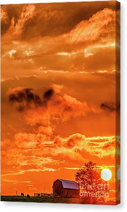 Nicholas County Canvas Print - When The Day Is Done by Thomas R Fletcher