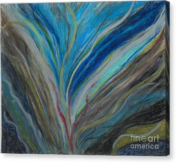 Canvas Print featuring the pastel When The Feelings Are Gone by Ania M Milo