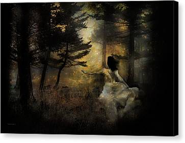 Goth Canvas Print - When The Forest Calls by Theresa Tahara