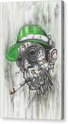 Drips Canvas Print - When The Going Gets Weird, The Weird Go Pro by Tai Taeoalii