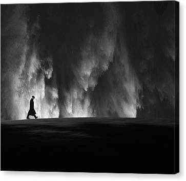 When The Man Comes Around Canvas Print