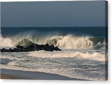 When The Ocean Speaks - Jersey Shore Canvas Print