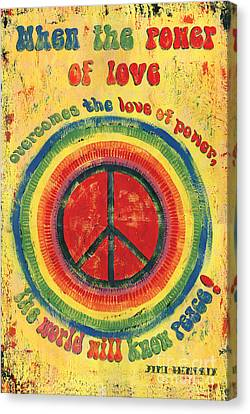 Power Canvas Print - When The Power Of Love by Debbie DeWitt