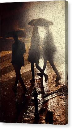 When The Rain Comes Canvas Print by Jaroslaw Blaminsky