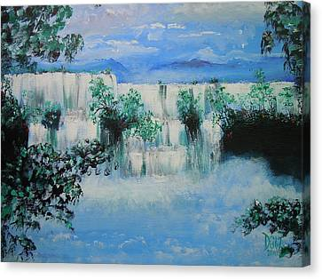 Canvas Print featuring the painting When The Rivers Rise by Dan Whittemore