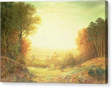 When The Sun In Splendor Fades Canvas Print by John MacWhirter