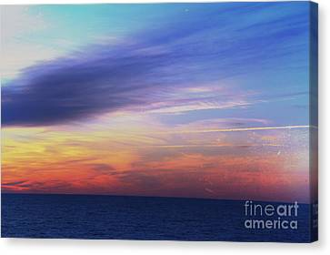 When The Sun Kissed The Sky  Canvas Print