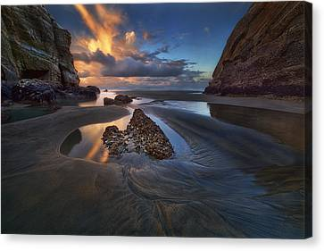 When The Tide Receded Canvas Print by Yan Zhang