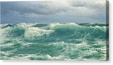 When The Wind Blows The Sea In Canvas Print by Celestial Images