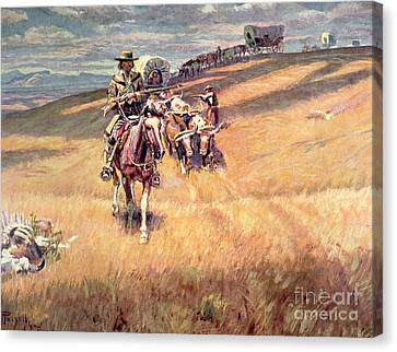 When Wagon Trails Were Dim Canvas Print