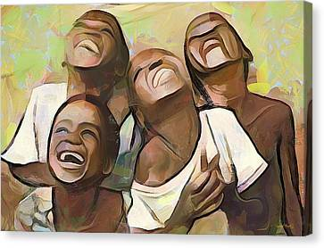 When We Were Boys Canvas Print by Wayne Pascall