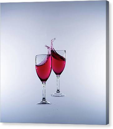 When Wine Collides #2 Canvas Print by Mark A Hunter