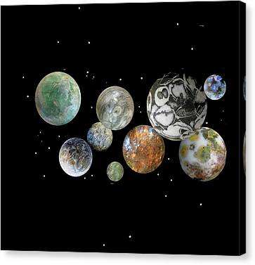 Canvas Print featuring the photograph When Worlds Collide by Tony Murray